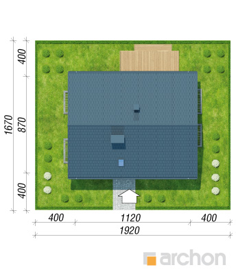projekt Dom w zielistkach 6 (PT) sytuacja