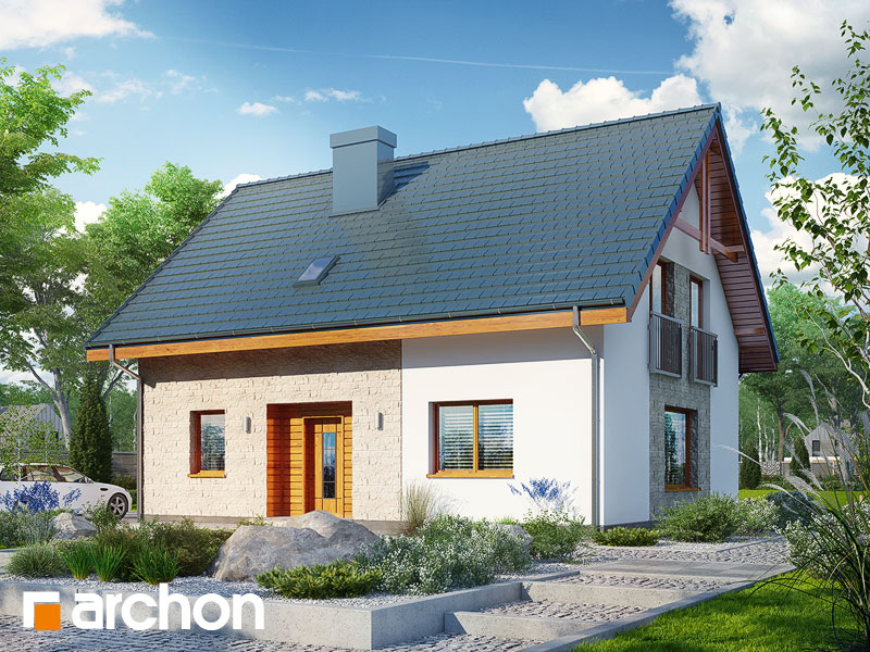 gotowy projekt Dom w zielistkach 6 (PT) widok 1