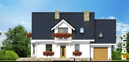 Elewacja frontowa projekt dom w rododendronach 6 p ver 2  264