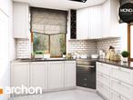 projekt Dom w rododendronach 6 (P) Wizualizacja kuchni 1 widok 1