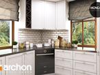 projekt Dom w rododendronach 6 (P) Wizualizacja kuchni 1 widok 2