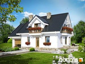 projekt Dom w rododendronach 6 (P) lustrzane odbicie 1