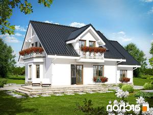 projekt Dom w rododendronach 6 (P) lustrzane odbicie 2