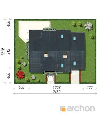 projekt Dom w rododendronach 6 (P) sytuacja