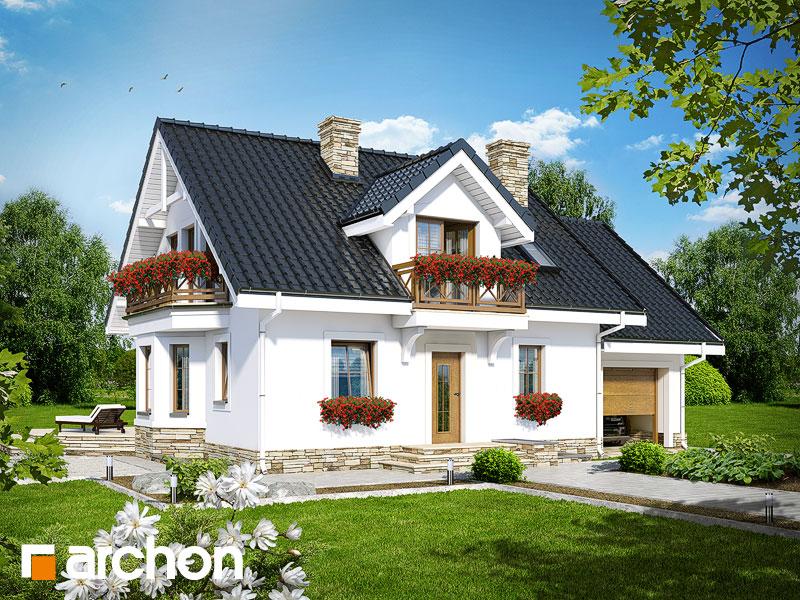 gotowy projekt Dom w rododendronach 6 (P) widok 1