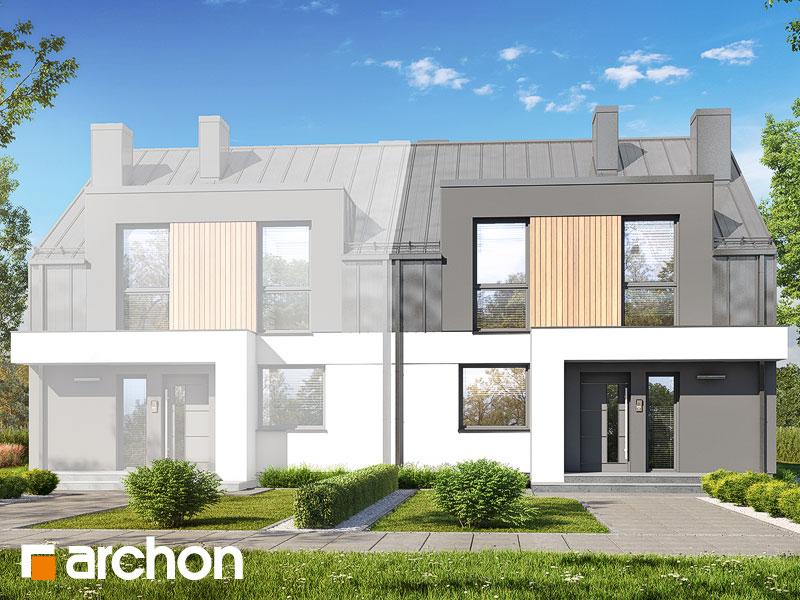 gotowy projekt Dom w klematisach 31 (B) widok 2