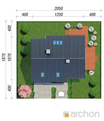 projekt Dom w aurorach (P) sytuacja
