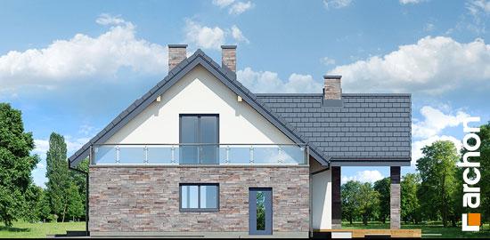 Elewacja boczna projekt dom w brunerach g2  265