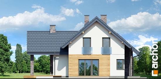 Elewacja boczna projekt dom w brunerach g2  266