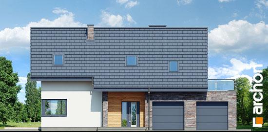 Elewacja frontowa projekt dom w brunerach g2  264