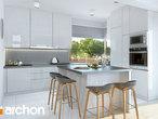 projekt Dom w brunerach (G2) Wizualizacja kuchni 1 widok 1