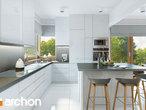 projekt Dom w brunerach (G2) Wizualizacja kuchni 1 widok 2