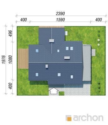 projekt Dom w brunerach (G2) sytuacja
