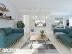 projekt Dom w brunerach (G2) Strefa dzienna (wizualizacja 1 widok 2)