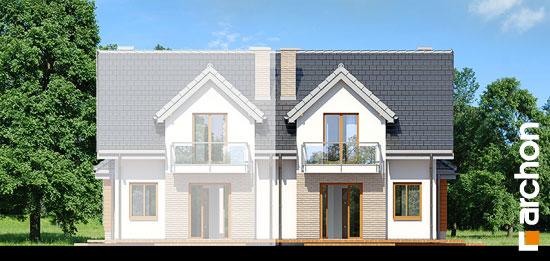 Elewacja ogrodowa projekt dom w cyklamenach 2 ver 2  267