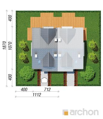 projekt Dom w cyklamenach 2 sytuacja