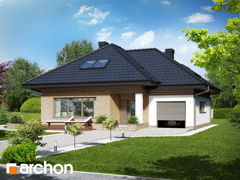 gotowy projekt Dom w lilakach (GPD) widok 1