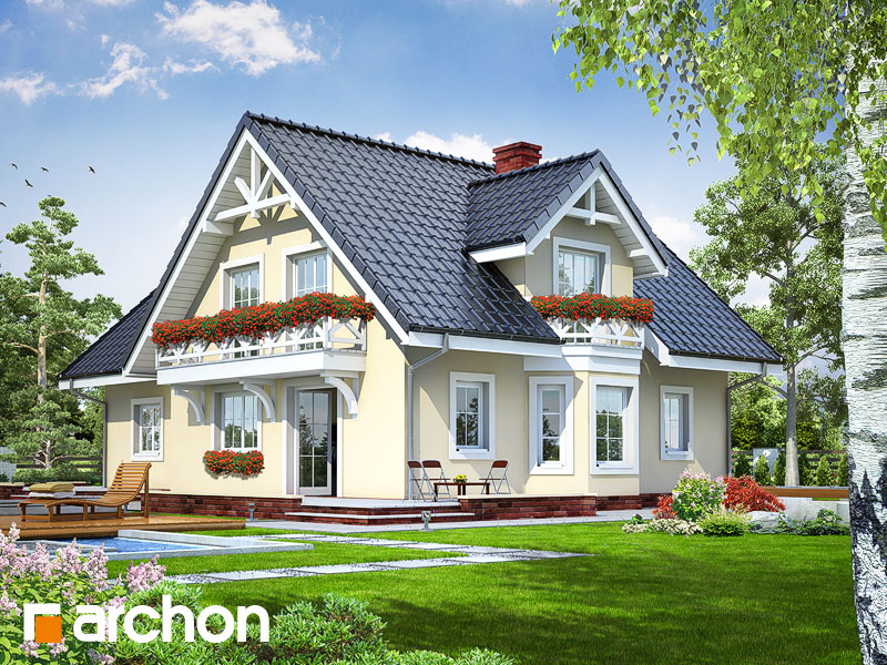 gotowy projekt Dom w borowikach widok 1