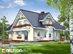 projekt Dom w borowikach widok 2