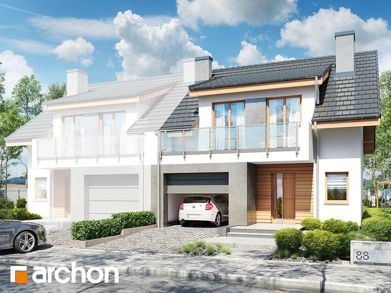 gotowy projekt Dom w klematisach 23 (B) widok 1