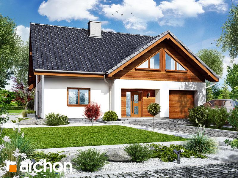 gotowy projekt Dom w ipomeach widok 1