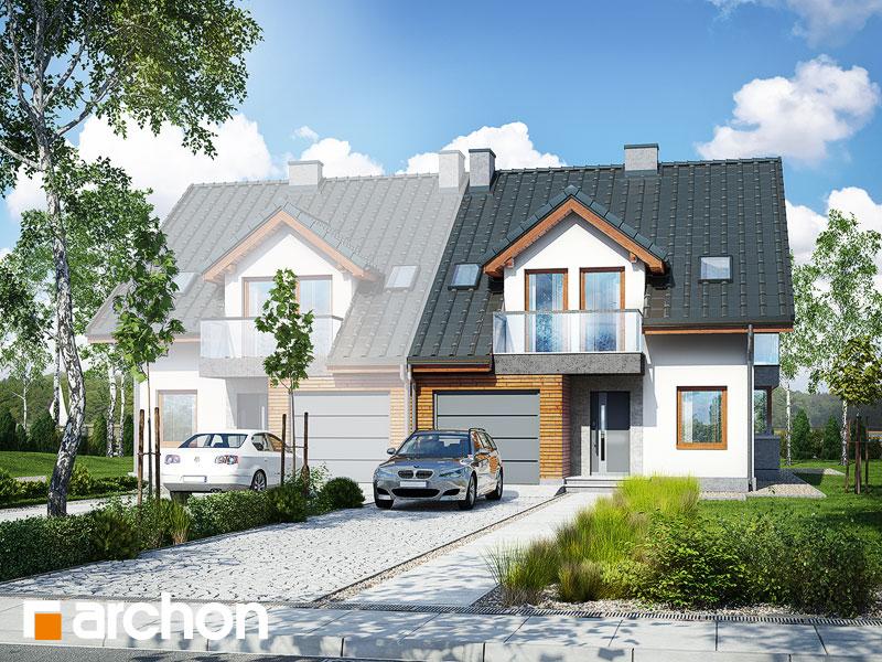 gotowy projekt Dom w klematisach 15 (B) widok 1