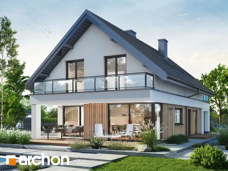gotowy projekt Dom w szyszkowcach 4 widok 1