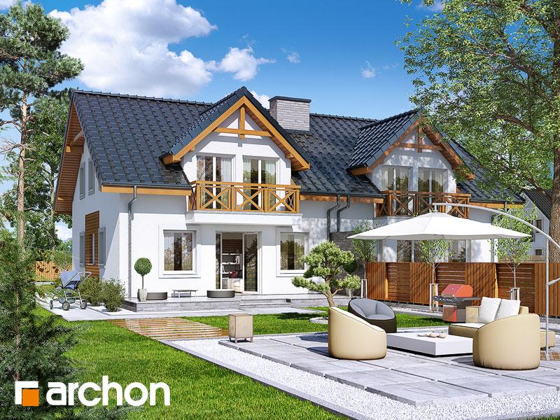gotowy projekt Dom w klematisach 17 (R2) widok 1