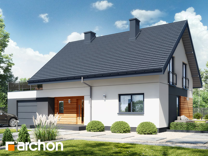 gotowy projekt Dom w malinówkach 11 (G) widok 1