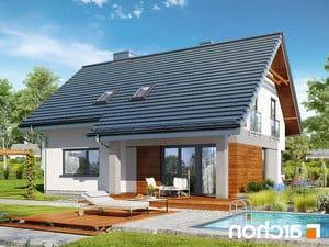 projekt Dom w malinówkach 4 (P) lustrzane odbicie 2