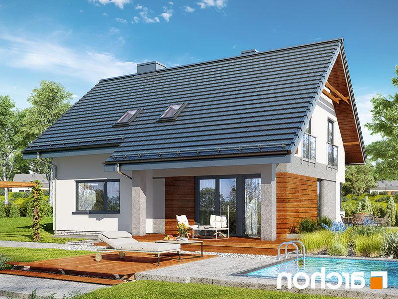 Lustrzane odbicie 2 projekt dom w malinowkach 4 p  290lo