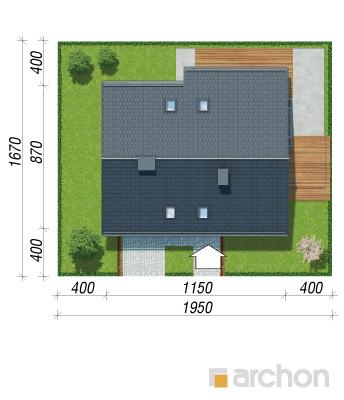 projekt Dom w malinówkach 4 (P) sytuacja