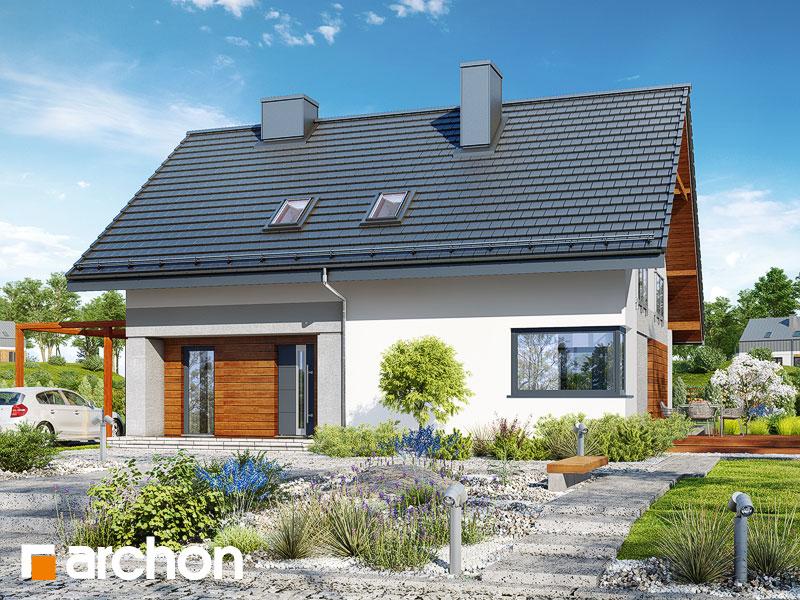 gotowy projekt Dom w malinówkach 4 (P) widok 1