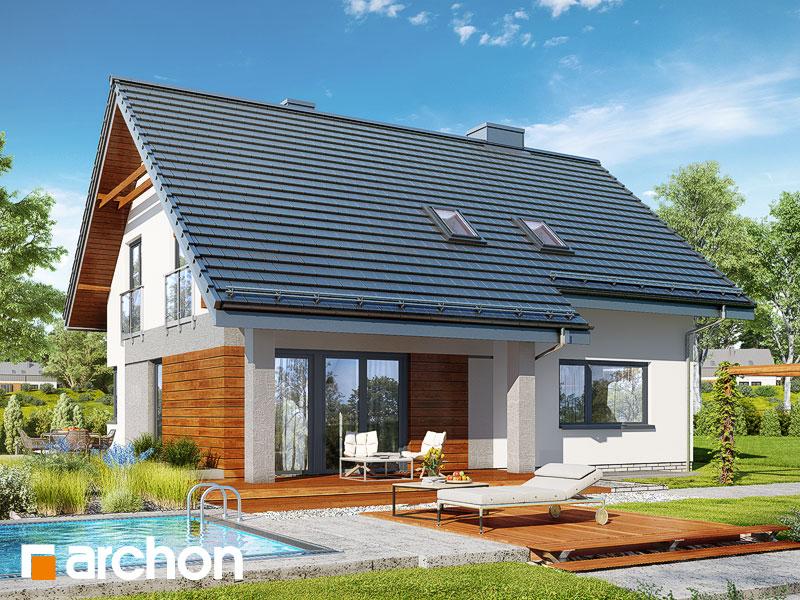 Widok 2 projekt dom w malinowkach 4 p  290