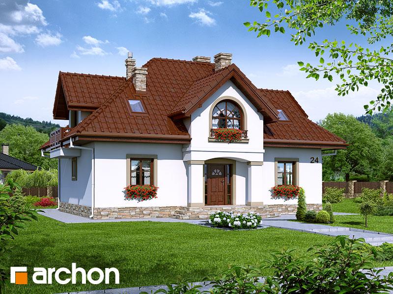 gotowy projekt Dom w mirabelkach 2 widok 1