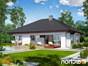 projekt Dom pod jarząbem (N) lustrzane odbicie 2