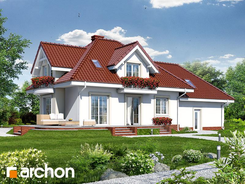 gotowy projekt Dom w werbenach (G2P) widok 1