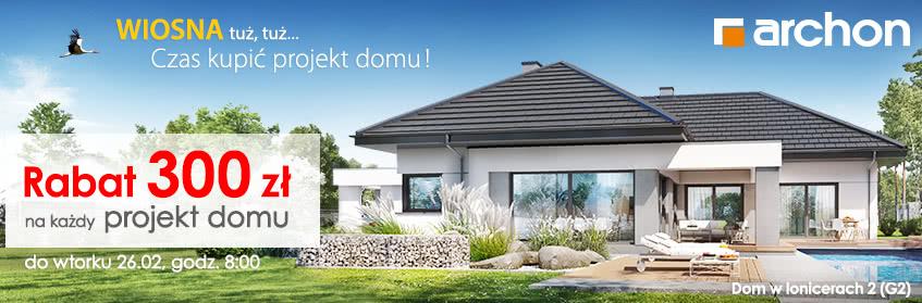 zyskaj 250 zł kupując projekt domu